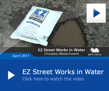 EZ Street Premium Cold Asphalt Works in Water and all Weather