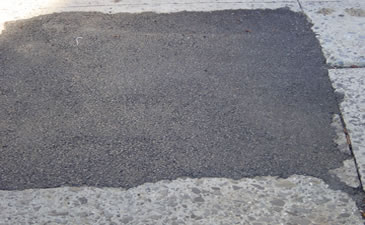 EZ Street Premium Cold Asphalt Works in Water